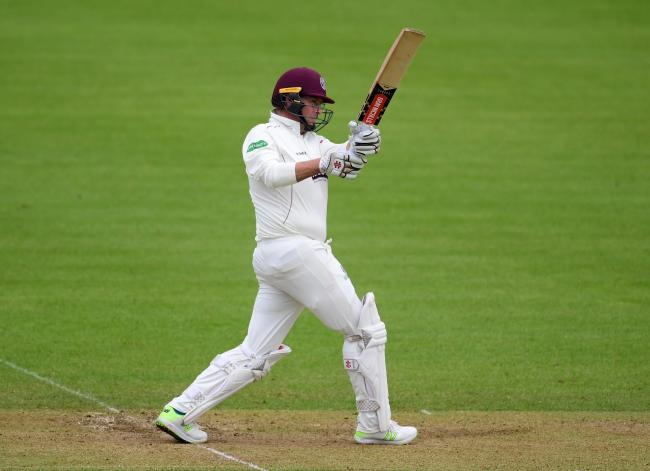 Marcus Trescothick of Somerset in action.