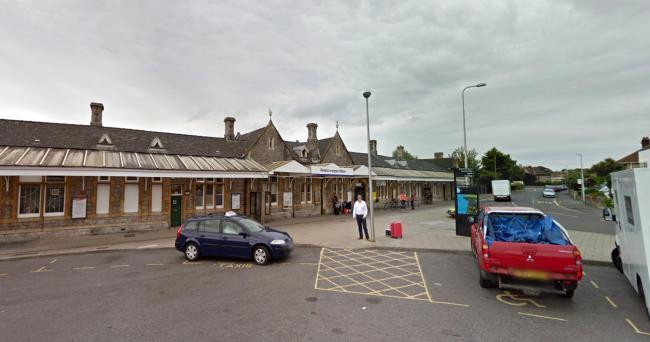 DESTINATION: The train was heading for Weston-super-Mare. PICTURE: Google Street View