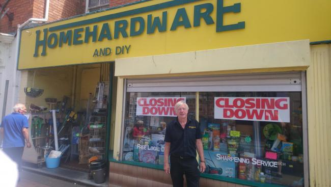 CLOSURE: Phillip Hemming, owner of Home Hardware, says the store will be closing in August