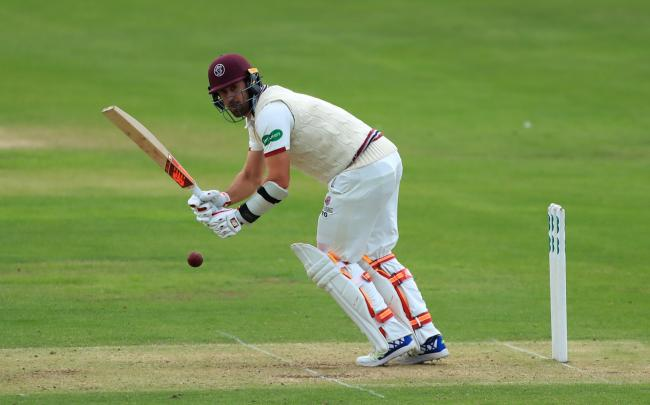 Somerset's Tim Groenewald was the first wicket to fall on the final day