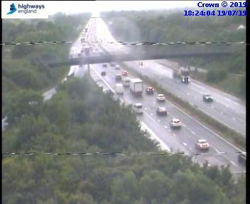 Stop-start traffic and hour long delays on M5 northbound