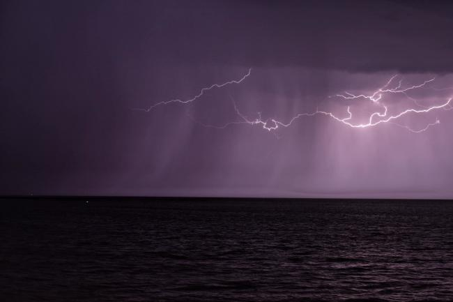 WEATHER WARNING: Somerset Camera Club member, Sophie Brewer, captured this photo of lightning from Burnham Beach