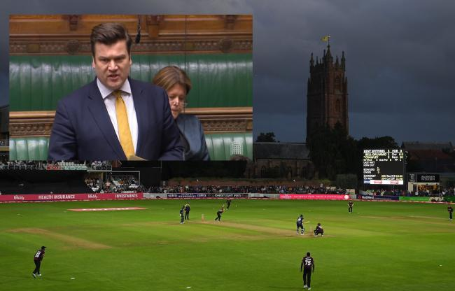 'RIDICULOUS': MP James Heappey (inset) has criticised the omission of grounds such as Taunton in the men's Hundred