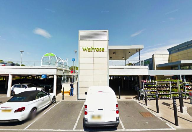 ATTACK: The incident unfolded after a ball was taken in a Waitrose car park. PICTURE: Google Street View