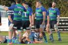 TRY TIME: Burnham-on-Sea enjoyed a comfortable win over St Bernadettes Old Boys. Pic: Mo Hunt/Mospix