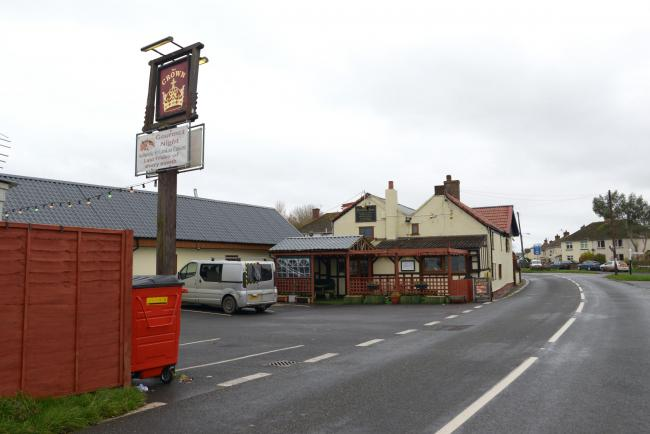 The Crown Inn Pub in East Huntspill