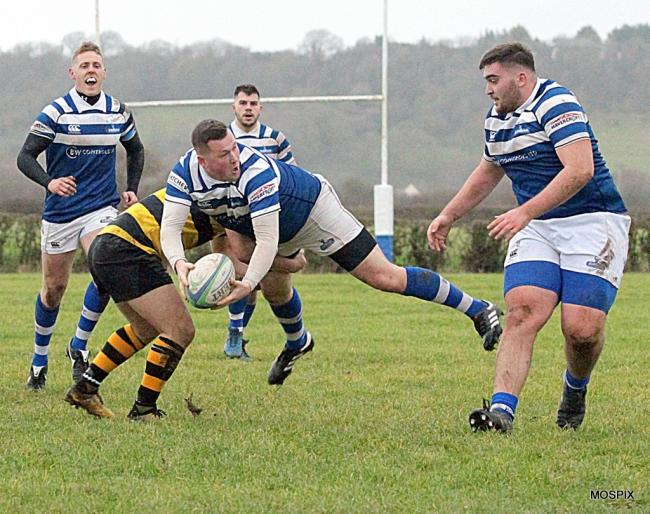 THUMPING WIN: Burnham-on-Sea ran riot against Avon on Saturday. Pic: Mo Hunt/Mospix