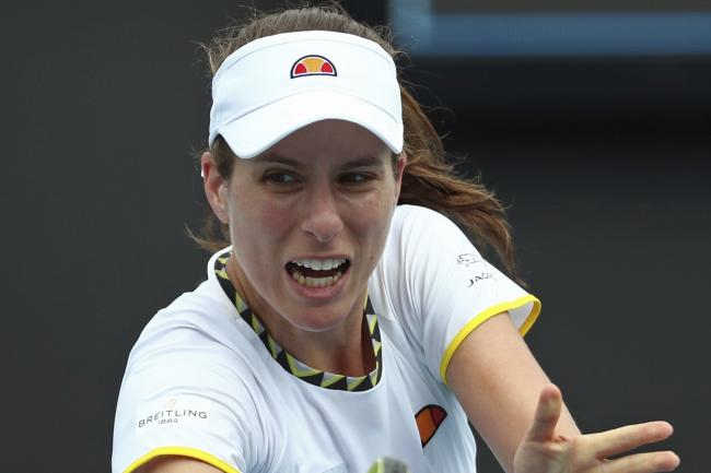 Johanna Konta was beaten by Ons Jabeur