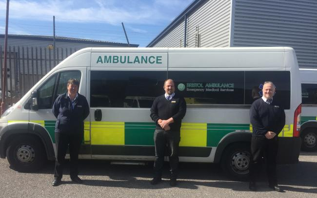 TEAMING UP: Bakers Dolphin drivers and the ambulance service