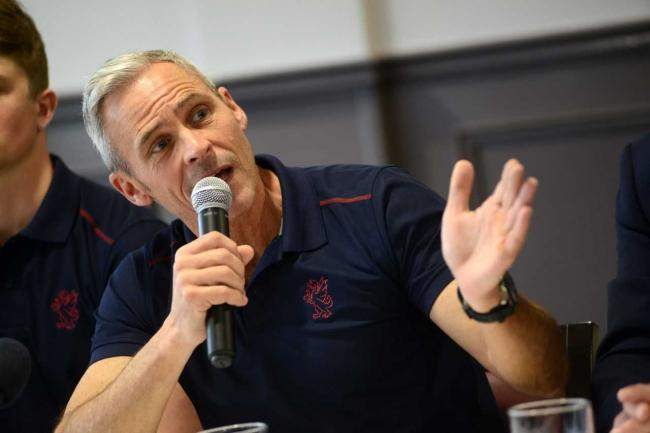 BRIEFING: Somerset director of cricket Andy Hurry, who answered questions in the virtual press briefing alongside chief executive Gordon Hollins. Pic: Ash Magill