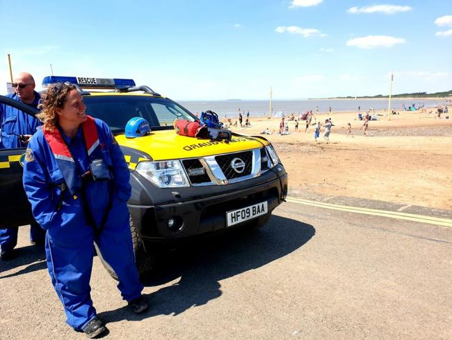 Beach-goers rescued after jumping into sea to save child who fell at end of Burnham-on-Sea Jetty