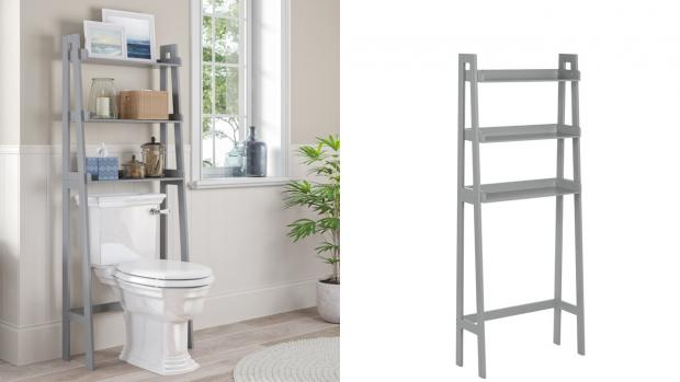 Burnham and Highbridge Weekly News: Over-the-toilet units provide a lot more storage space. Credit: Wayfair