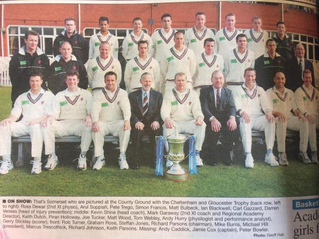 LINE-UP: The Somerset squad ahead of the 2002 season