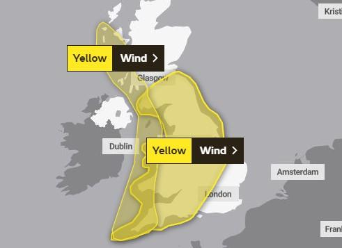 WEATHER WARNING: Storm Ellen will see strong winds for much of the