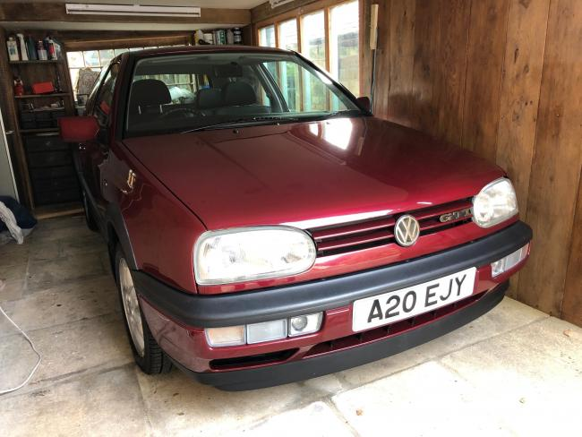 GARAGE STORED: The 1996 Golf GTI, above and bottom, valued at £8k-10k