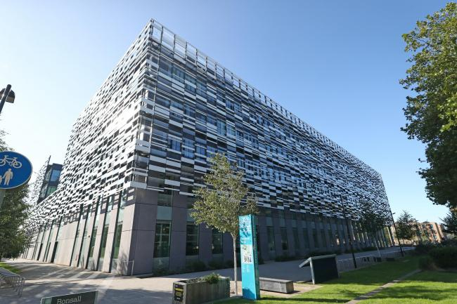 Manchester Metropolitan University's Birley campus where hundreds of students have been told to self-isolate after 127 of them tested positive for coronavirus (Peter Byrne/PA)