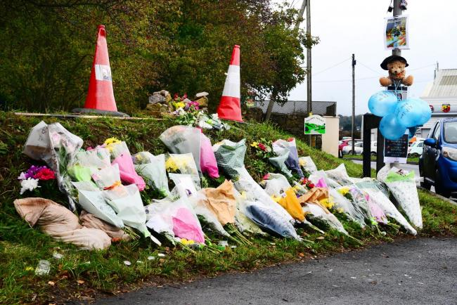 TRIBUTES: At the scene of the tragic crash which claimed the life of motorcyclist Levi Kelson, from Highbridge