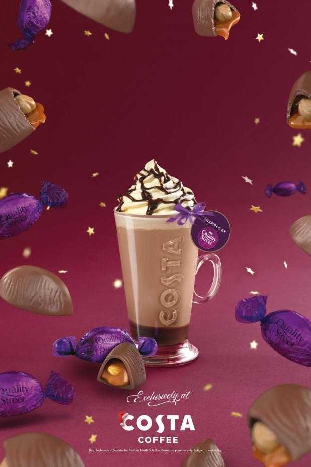 Burnham and Highbridge Weekly News: The Quality Street Purple One Latte. Credit: Costa