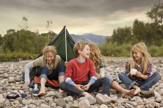 Children on a camping holiday (pic: PA Photo/thinkstockphotos)