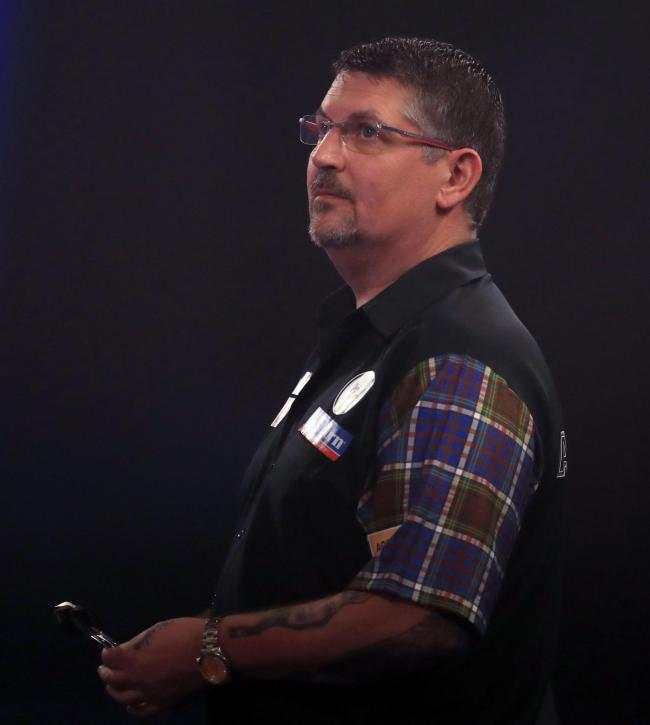 MEANS BUSINESS: Gary Anderson was on ruthless form against Devon Petersen (pic: Adam Davy/PA Wire)