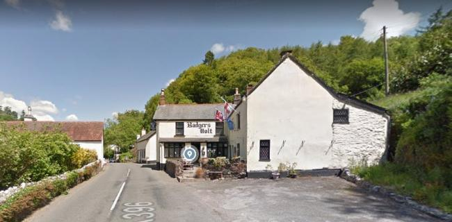 ANGER: Badgers Holt pub on Exmoor