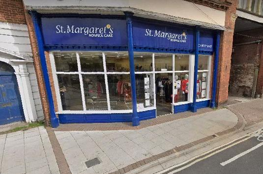 FUNDING BOOST: St Margaret's Hospice Care's charity shop in Taunton