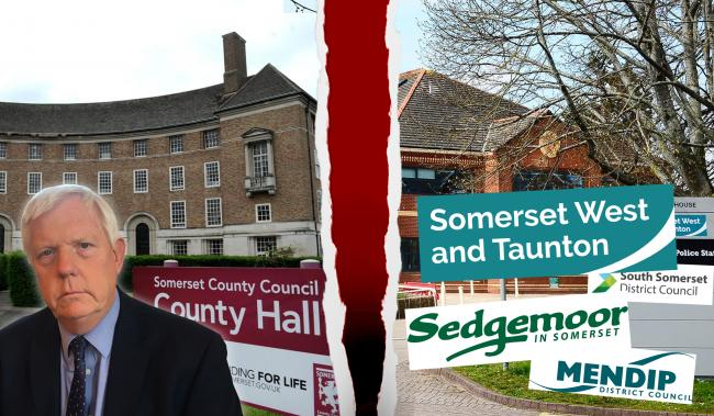 SPLIT: The county council and districts have launched rival unitary bids for Somerset