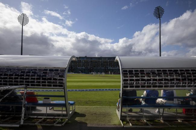 FIXTURE IN DOUBT: A view on to the playing field at the Cooper Associates County Ground, Taunton (pic: Steven Paston/PA Wire)