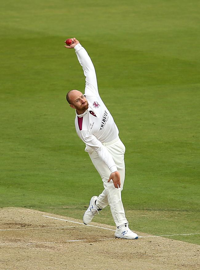 BACK IN ACTION: Somerset's Jack Leach (pic: Steven Paston/PA Wire)