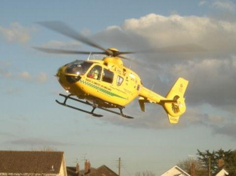 Air Ambulance lands next to BAY Centre