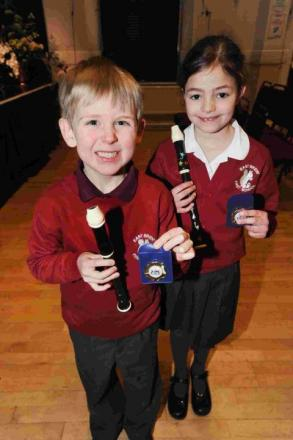 Benjamin Warner-Deards and Megan Gosling from East Brent School