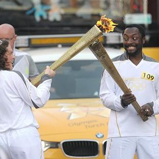 The flame is handed on by will.i.am