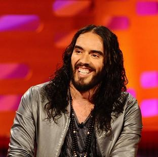Russell Brand during filming of The Graham Norton Show