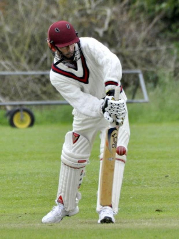 Burnham and Highbridge Weekly News: Andrew Chedzey on his way to 36. PHOTO: Mike Lang