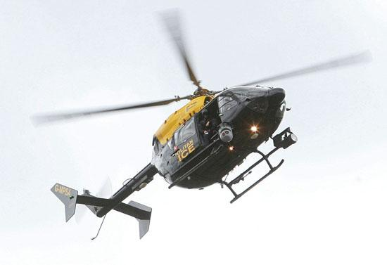Police chopper flying time could be reduced