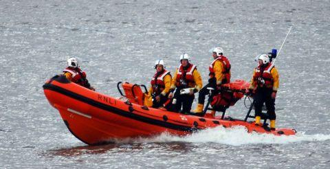 Search teams scour the sea off the Burnham coastline - Photo: Andy Slocombe