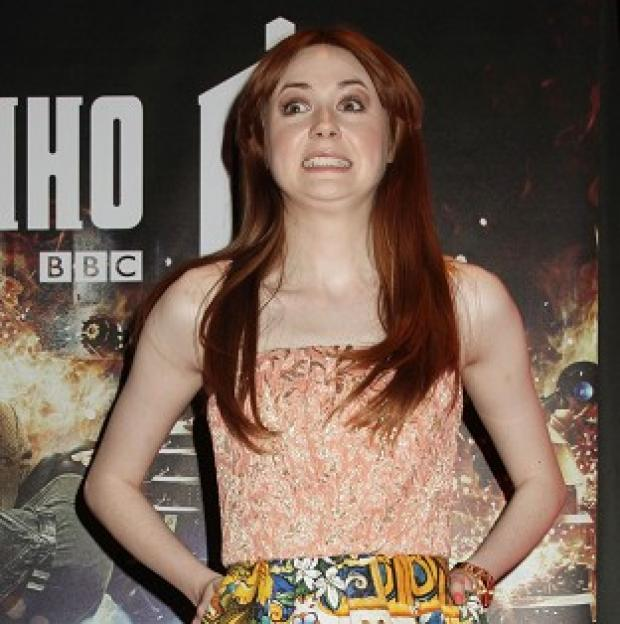 Karen Gillan is bidding a tearful farewell to her Doctor Who character Amy Pond