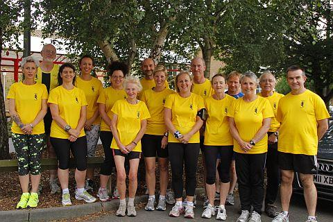 Members of Burnham Harriers Running Club