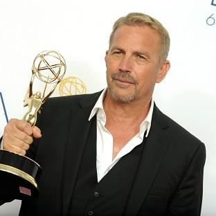 Kevin Costner, winner of the Emmy for outstanding lead actor in a miniseries or movie for Hatfields & McCoys (AP)