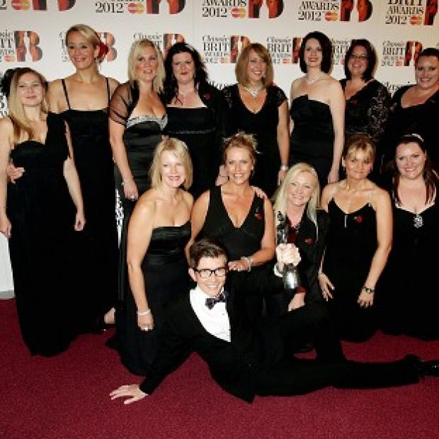 Burnham and Highbridge Weekly News: Gareth Malone and the Military Wives at the the 2012 Classic Brit Awards at the Royal Albert Hall