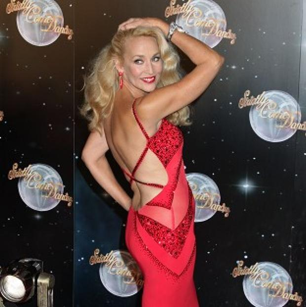Jerry Hall admitted she has been a bit lazy when it comes to dance training