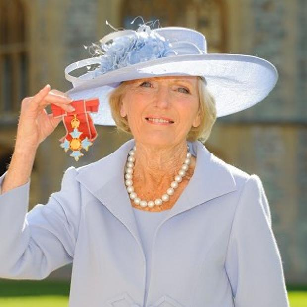 Burnham and Highbridge Weekly News: Mary Berry has become a Commander of the British Empire (CBE)