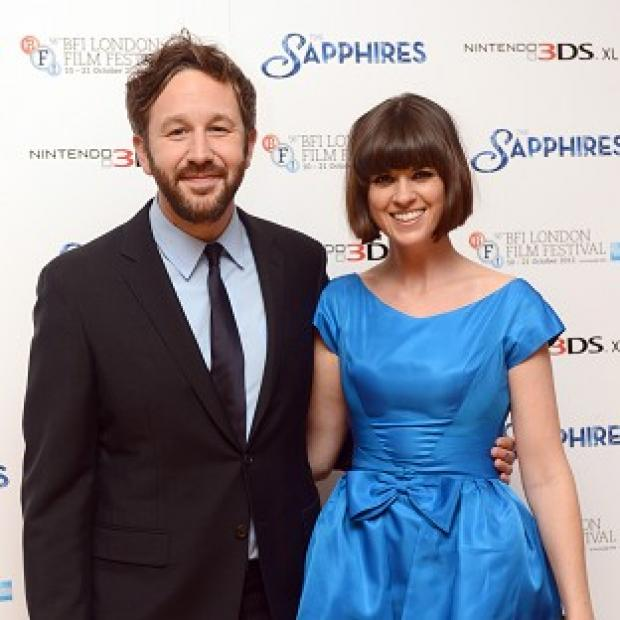 Chris O'Dowd and wife Dawn Porter arriving for the premier of The Sapphires