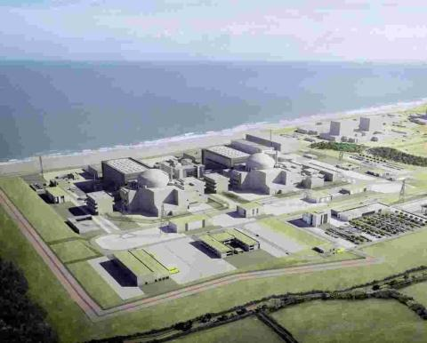 An artist's impression of Hinkley Point C