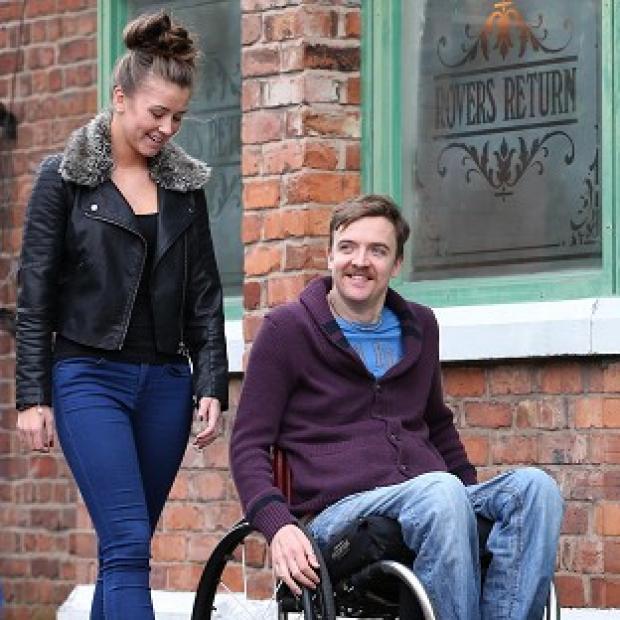 Brooke Vincent has been researching her role with the help of wheelchair user Jamie Rhind