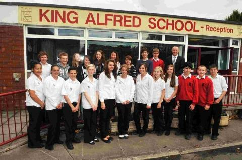King Alfred staff and students