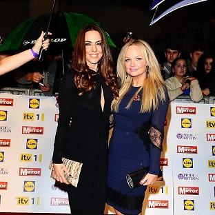 Melanie Chisolm and Emma Bunton arriving for the Pride of Britain awards