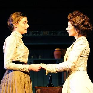 Laura Carmichael, left, and Anna Friel in Uncle Vanya
