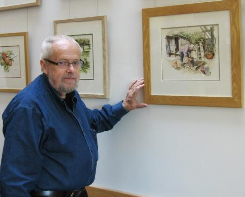 Artist Michael Cooper is showing his work at the Strode Theatre.