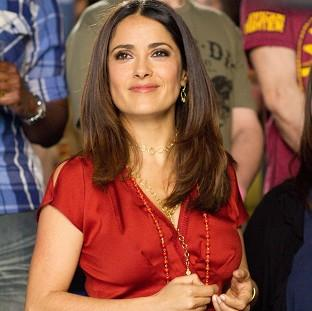 Salma Hayek plays a teacher in new comedy Here Comes The Boom